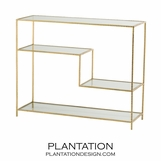 Springfield Console Table | Gold Leaf
