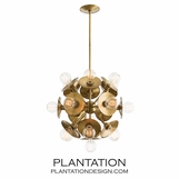 Norton Chandelier | Brass