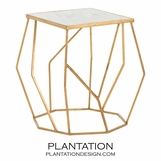 Odessa Side Table | Gold Leaf