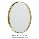Ollie Polished Brass Mirror