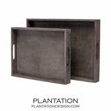 "Orion ""Shagreen"" Trays Sets 