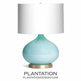 Padma Glass Table Lamp | Turquoise