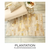 Pastiche Hide Area Rug | Gold