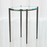 Pauline Oval Side Table | Iron
