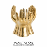 Piedmont Golden Hands Sculpture