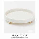 Quintessential Round Tray | White Marble