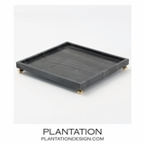 Quintessential Square Tray | Black Marble