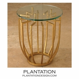 Radial Side Table | Gold