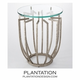 Radial Side Table | Silver