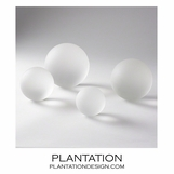 Raindrop Glass Spheres | Frosted