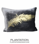 Reiki Velvet Pillow | Feather