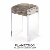 Salvador Cowhide & Lucite Barstool