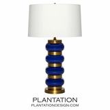 Sela Glass Table Lamp | Blue