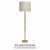 Serafina Floor Lamp | Gold Leaf