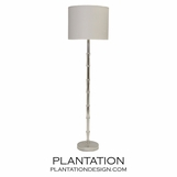 Ashta Floor Lamp | Warm Silver