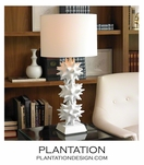 Spiky Deco Lamp | Shiny White