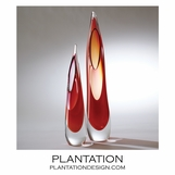 Stalactite Glass Vases | Red-Orange