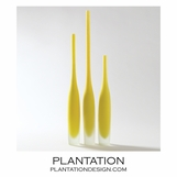 Steeple Bottle Vases Set | Yellow