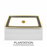 Stellar Large Tray | Grey & Gold