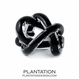Tangled Glass Knot | Black