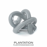 Tangled Glass Knot | Opaque Grey