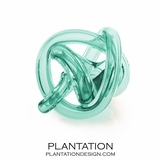 Tangled Glass Knot | Turquoise