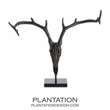 Tejas Iron Deer Sculpture