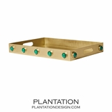 Titan Gemstone Rectangular Tray | Malachite