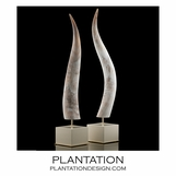 Toro Luxury Horn Sculptures | Ivory