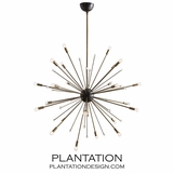 Toshi Large Chandelier | Brass