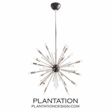 Toshi Small Chandelier | Nickel