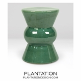 Tropicana Ceramic Stool | Green