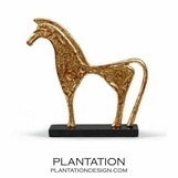 Troy Gold Horse Sculpture