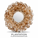 Wavy Shell Mirror | Light Oyster