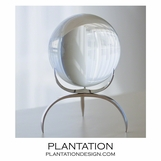 Wedgewood Sphere on Stand | Nickel