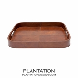 Woodford Leather Tray | Cognac