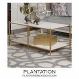 Woodland Coffee Table | Brass