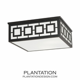 Wynn Square Flush Mount | Dark Bronze