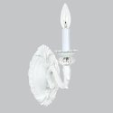 1 Arm Turret White Wall Sconce