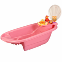 2 in 1 Bath Tub with Toy Organizer by Potty Patty� - Pink for Girls