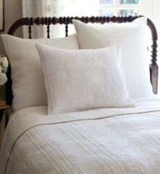 Abigail Cream Twin Quilt by Taylor Linens