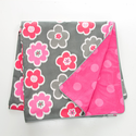 Addison Girls Reversible Pink and Gray Duvet