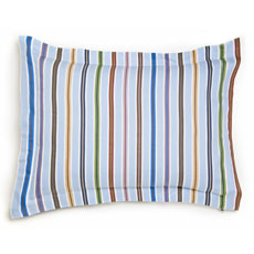 Adventure Striped Reversible Standard Sham by Whistle and Wink