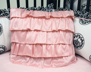 Amore Pink Ruffled Pillow