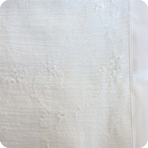 Ashley Solana Swaddle Wrap - Soft White Eyelet with White Satin Trim