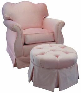 Aspen Pink Adult Empire Nursery Glider