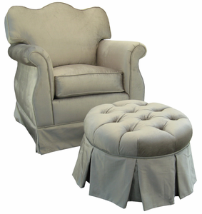Aspen Silver Adult Empire Nursery Glider by Angel Song