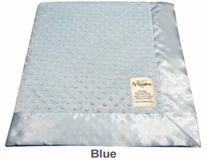 Baby Blue Dot Velour Baby Blanket