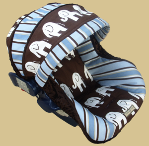 Baby Elephants Infant Car Seat Cover