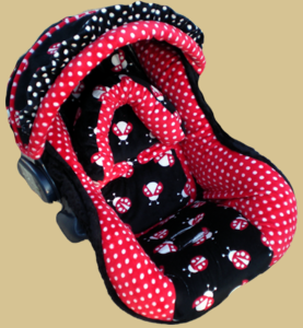 Baby Ladybugs Infant Car Seat Cover